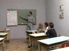 Colegiais ficam excitadas com professor