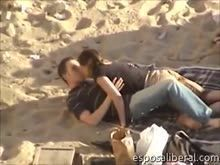 Flagra real de casal transando na praia